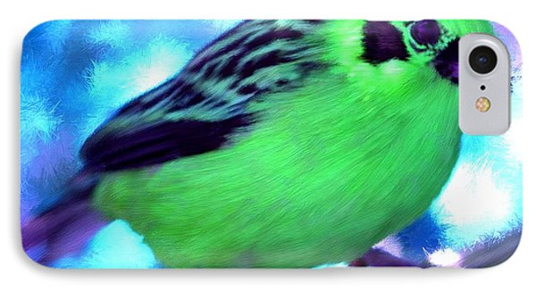 Bright Green Finch IPhone Case by Bruce Nutting