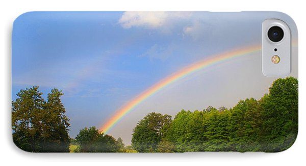 IPhone Case featuring the photograph Bright Rainbow by Kathryn Meyer