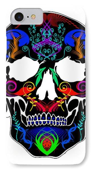 Bright Skull IPhone Case by Mauro Celotti