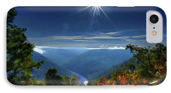 Bright Sun In Morning Cheat River Gorge IPhone Case by Dan Friend
