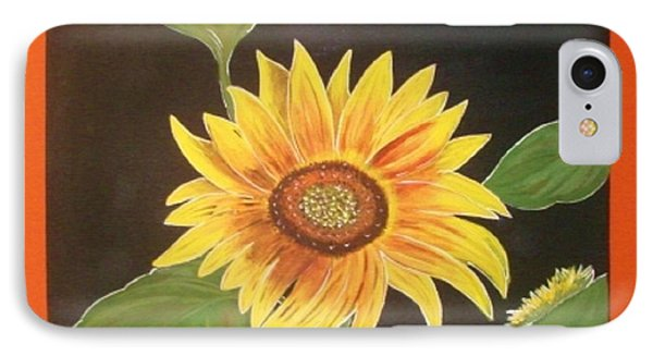 IPhone Case featuring the painting Bright Sunflower by Cindy Micklos