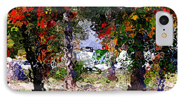 IPhone Case featuring the digital art Bright Trees by Gayle Price Thomas