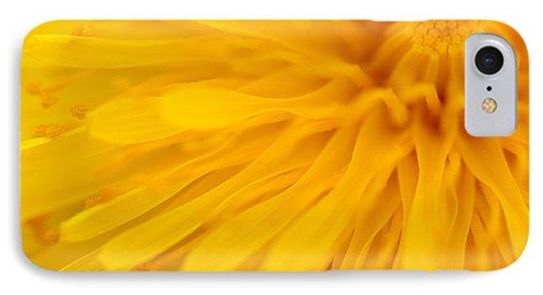 Bright Yellow Dandelion Flower Phone Case by Natalie Kinnear