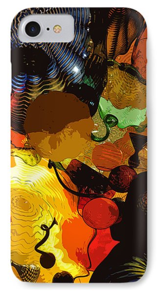 Bright Yellow Dark Blue Phone Case by Kirt Tisdale