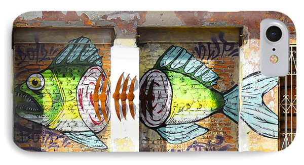 Brightly Colored Fish Mural IPhone Case