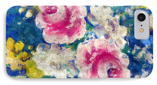 Brightly Floral Phone Case by Susan Leggett