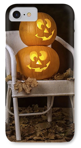 Brightly Lit Jack O Lanterns IPhone Case by Amanda Elwell