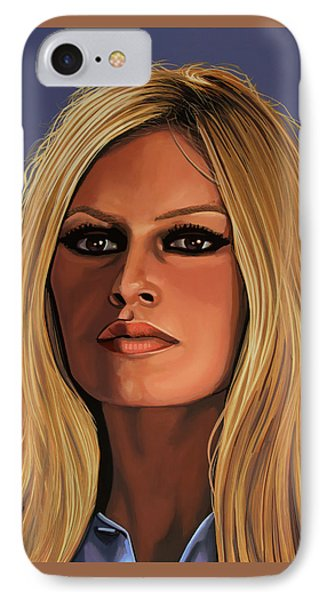 Brigitte Bardot Painting IPhone Case by Paul Meijering