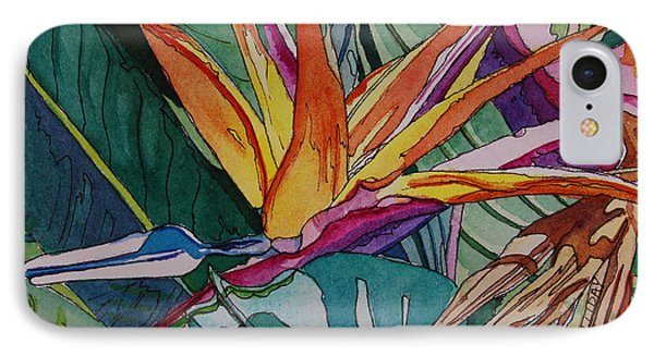 Brillant Bird Of Paradise IPhone Case by Terry Holliday