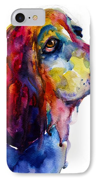 Brilliant Basset Hound Watercolor Painting IPhone Case
