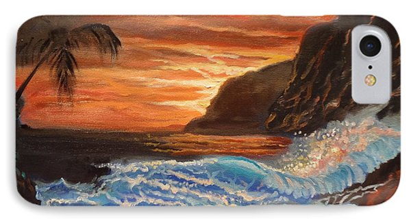 Brilliant Hawaiian Sunset 1 IPhone Case by Jenny Lee