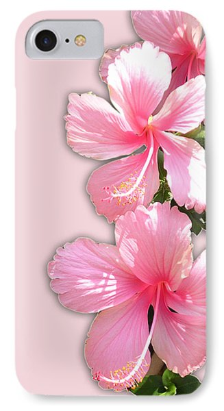 Brilliant Pink Hibiscuses IPhone Case by Karen Nicholson