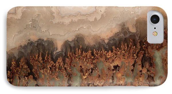 Brilliant Plume Agate IPhone Case by Leland D Howard