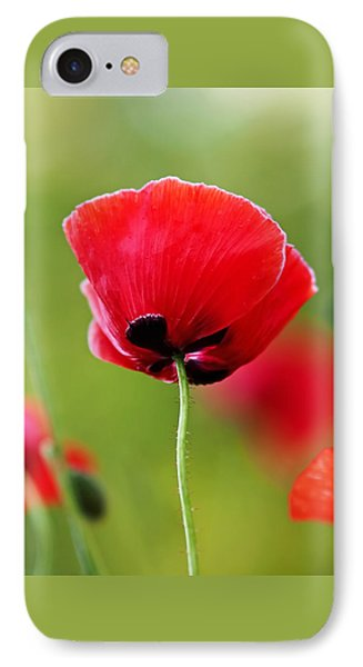 Brilliant Red Poppy Flower IPhone 7 Case