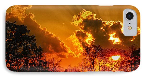 IPhone Case featuring the photograph Brilliant Sunset by Susan D Moody