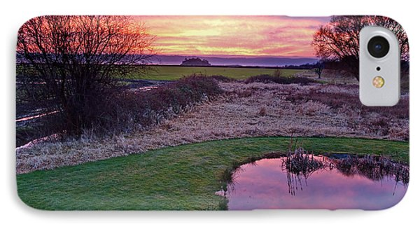 Brilliant Sunset With Pond Landscape IPhone Case by Valerie Garner