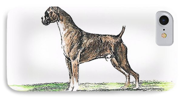 Brindle Boxer Phone Case by Joann Renner