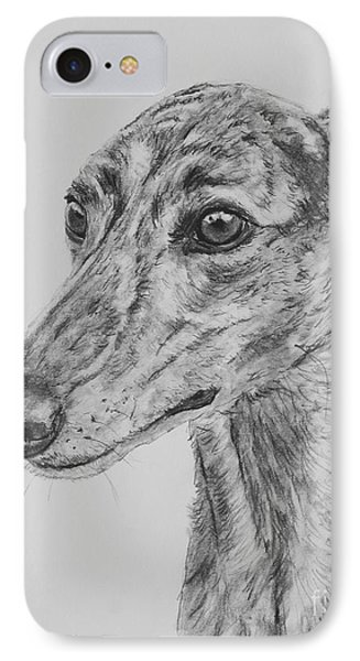 Brindle Greyhound Face In Profile IPhone Case