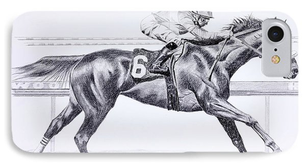 Bring On The Race Zenyatta Phone Case by Joette Snyder