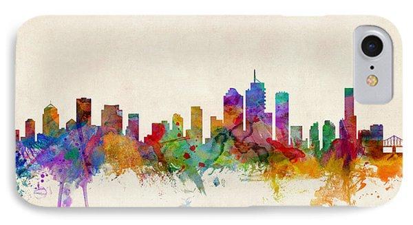 Brisbane Australia Skyline IPhone Case by Michael Tompsett