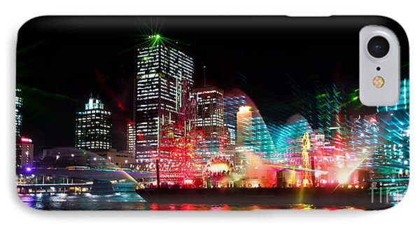 Brisbane City Of Lights IPhone Case by Peta Thames