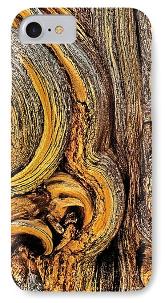 IPhone Case featuring the photograph Bristlecone Pine Bark Detail White Mountains Ca by Dave Welling