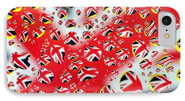 Britain Flag In Water Drops Phone Case by Paul Ge