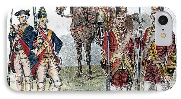 British & Hessian Soldiers Phone Case by Granger