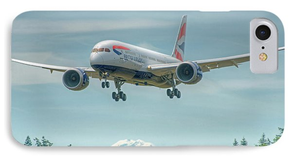 IPhone Case featuring the photograph British Airways 787 by Jeff Cook