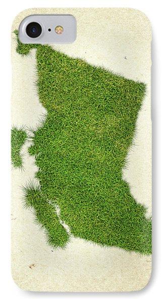British Columbia Grass Map IPhone Case
