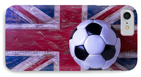 Soccer iPhone 7 Case - British Flag And Soccer Ball by Garry Gay