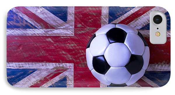 British Flag And Soccer Ball IPhone 7 Case by Garry Gay