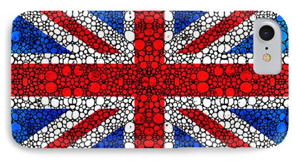 British Flag - Britain England Stone Rock'd Art Phone Case by Sharon Cummings