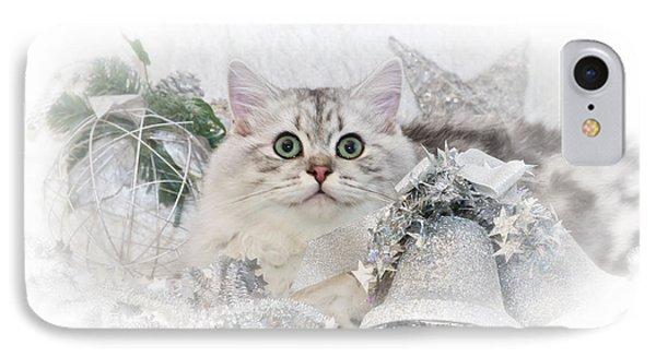 British Longhair Cat Christmas Time II Phone Case by Melanie Viola