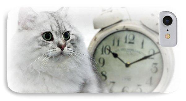 British Longhair Cat Time Goes By II Phone Case by Melanie Viola
