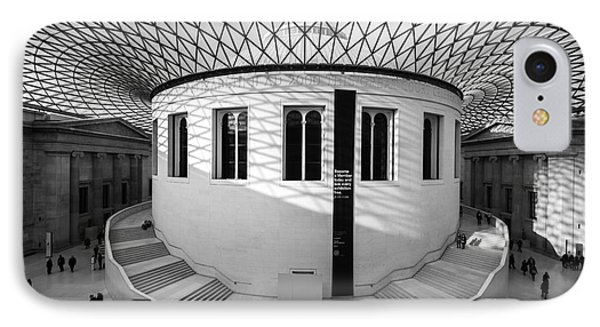 IPhone Case featuring the photograph British Museum Black And White by Matt Malloy