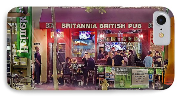 British Pub IPhone Case by Chuck Staley