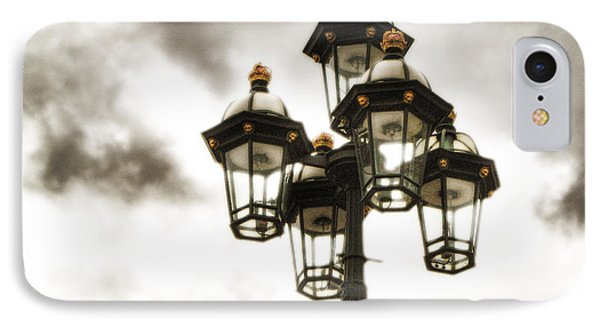 British Street Lamp Against Cloudy Sky IPhone Case
