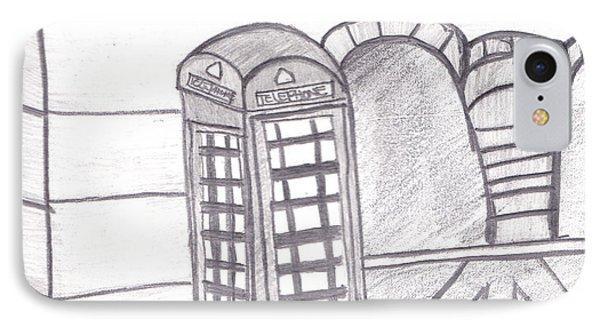 British Telephone Booth   Phone Case by Melissa Vijay Bharwani