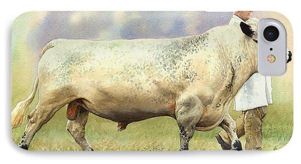 British White Bull Phone Case by Anthony Forster