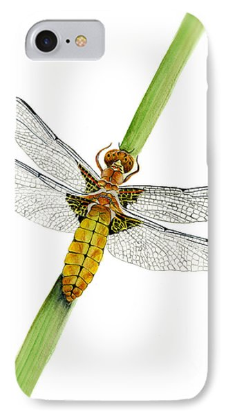 Broad-bodied Chaser Yellow Dragonfly IPhone Case