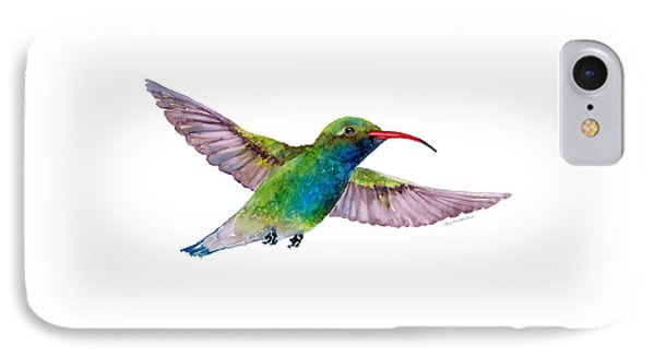 Broad Billed Hummingbird IPhone 7 Case by Amy Kirkpatrick