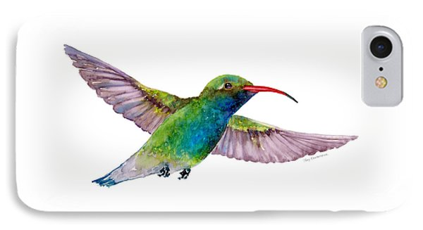 Broad Billed Hummingbird IPhone Case by Amy Kirkpatrick