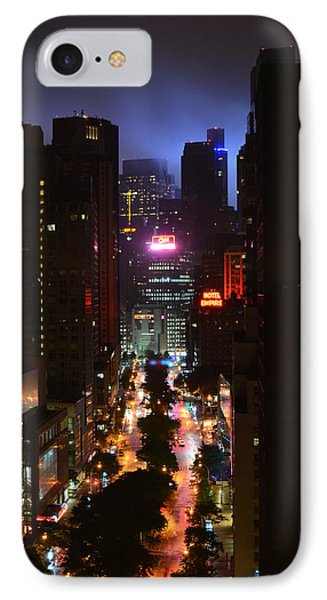 Broadway And 72nd Street At Night IPhone Case by Deprise Brescia