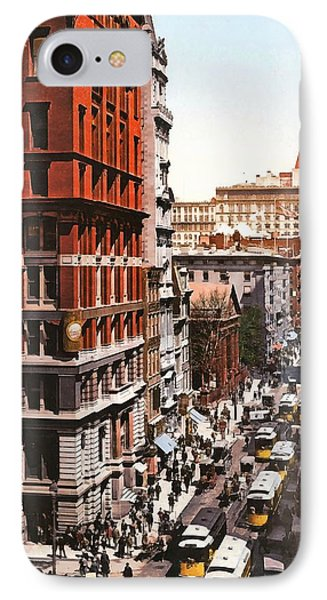 Broadway And Dey Street New York 1900 IPhone Case by Unknown