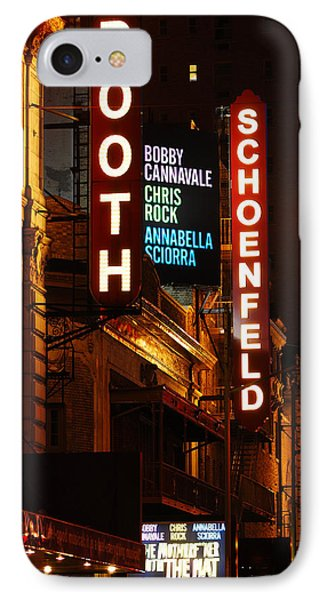 Broadway Theaters IPhone Case by James Kirkikis