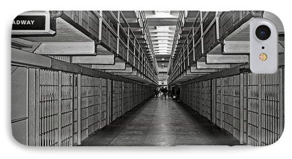 Broadway Walkway In Alcatraz Prison Phone Case by RicardMN Photography