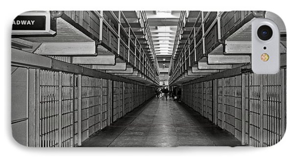 Broadway Walkway In Alcatraz Prison IPhone Case by RicardMN Photography