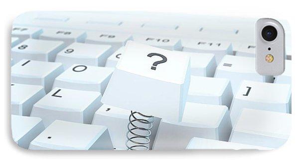 Broken Computer Keyboard IPhone Case by Andrzej Wojcicki