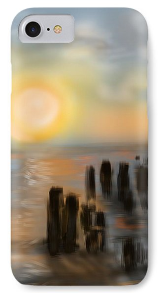 IPhone Case featuring the digital art Broken Dock by Christine Fournier